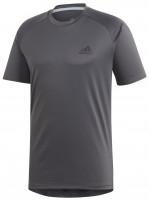 Teniso marškinėliai vyrams Adidas Club C/B Tee M - grey six/black