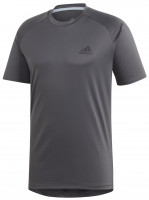 Męski T-Shirt Adidas Club C/B Tee M - grey six/black