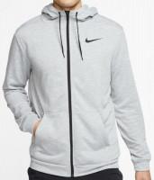 Męska bluza tenisowa Nike Dry Hoodie FZ Fleece - dark grey heather/black