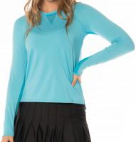 Moteriški marškinėliai Lucky in Love Core High-Low Long Sleeve Women - ocean
