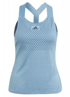 Adidas Heat Ready Primeblue Y-Tank Top W - hazy blue/crew navy
