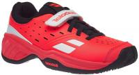 Juniorskie buty tenisowe Babolat Pulsion All Court Kid - fluo strike/black