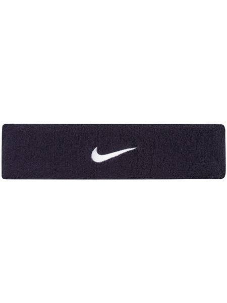 Frotka Tenisowa na głowę Nike Swoosh Headband - obsidian/white