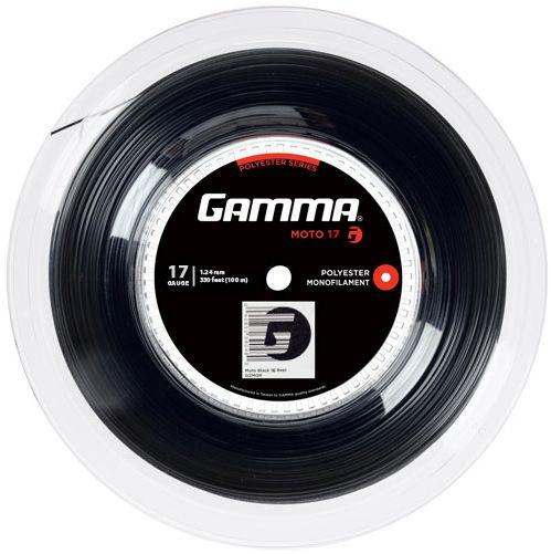 Tenisa stīgas Gamma MOTO (100 m) - black