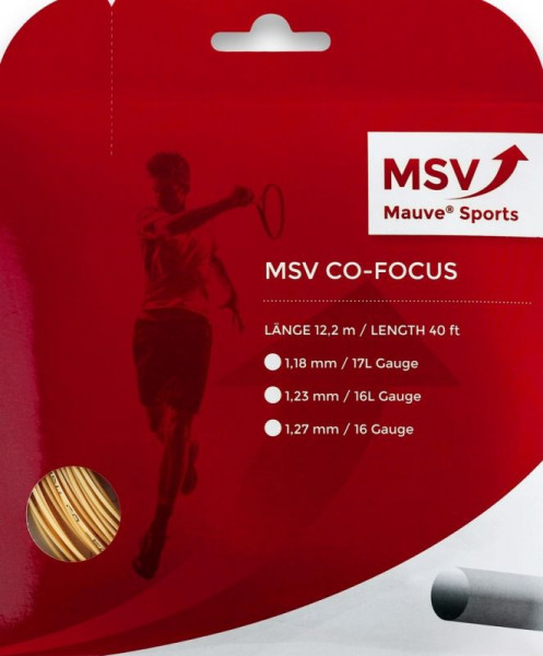 Teniska žica MSV Co. Focus (12 m) - natural