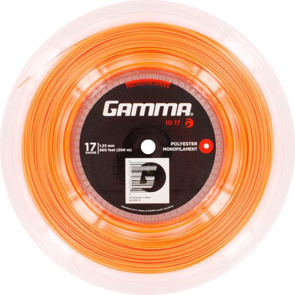 Tenisa stīgas Gamma iO (200 m) - orange