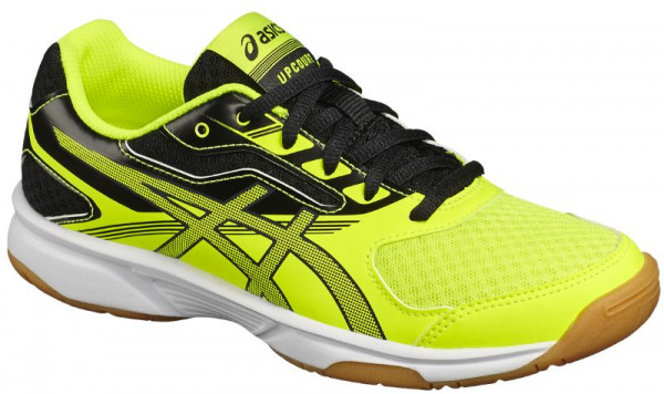 Buty do squasha Asics UpCourt 2 GS - safety yellow/dark grey/black
