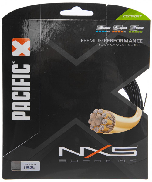 Tennis String Pacific NXS Supreme (12,2 m) - black