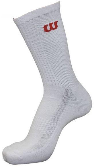 Socks Wilson White Men's Crew 3pr/pk - 3 pary/white
