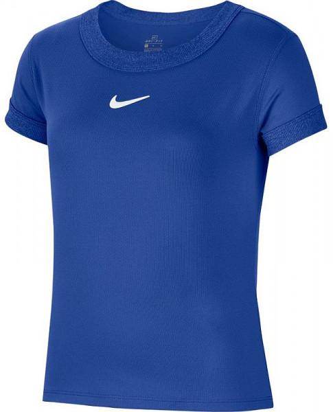 Koszulka dziewczęca Nike Court G Dry Top SS - game royal/white