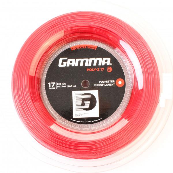 Naciąg tenisowy Gamma Poly-Z (200 m) - red