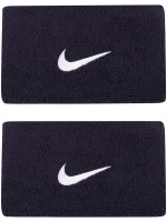 Nike Swoosh Double-Wide Wristbands - obsidian/white