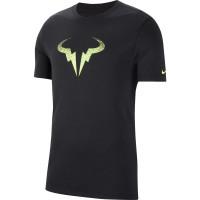Męski T-Shirt Nike Court Rafa Tee DB - black/volt