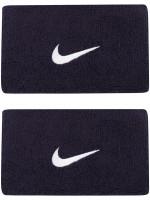 Frotka tenisowa Nike Swoosh Double-Wide Wristbands - obsidian/white