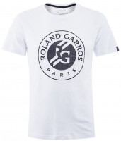 Koszulka chłopięca Lacoste Roland Garros Tee Boys - white/bleu marine
