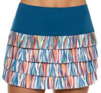 Ženska teniska suknja Lucky in Love A Stitch In Time Knit Happens Pleated Skirt Women - slate