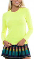 Damski T-shirt (dł. rękaw) Lucky in Love Square Are You? Breeze L/S Crew Women - neon yellow