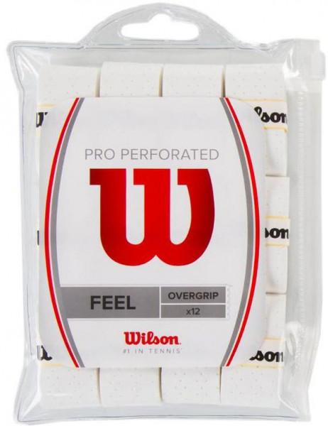 Owijki tenisowe Wilson Pro Overgrip Perforated 12P - white