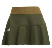 Damska spódniczka tenisowa Adidas Heat Ready Primeblue Match Skort W - wild pine/aluminium