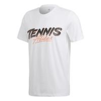 Męski T-Shirt Adidas Tennis Script Tee - white