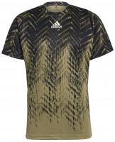 Muška majica Adidas Tennis Freelift Printed T-Shirt Primeblue M - orbit green