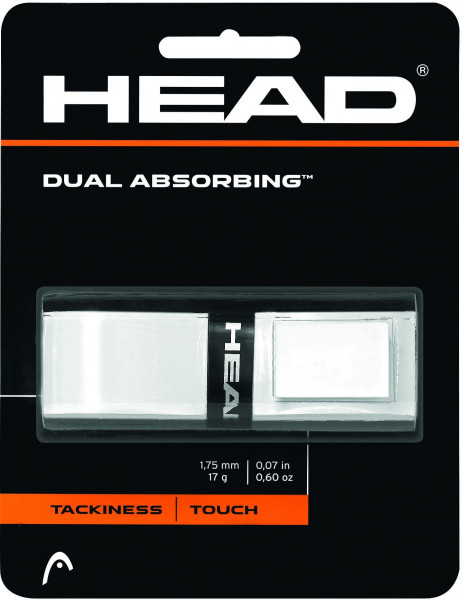 Owijki tenisowe bazowe Head Dual Absorbing (1 szt.) - white