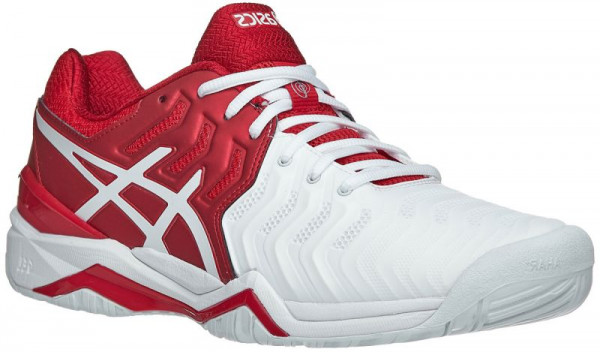 Asics Gel-Resolution Novak - classic red/white/silver