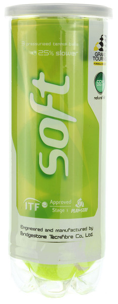 Juunioride tennisepallid Tecnifibre Soft (Stage 1) 3B