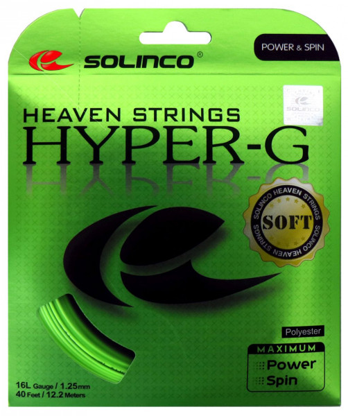 Teniso stygos Solinco Hyper-G Soft (12 m) - green