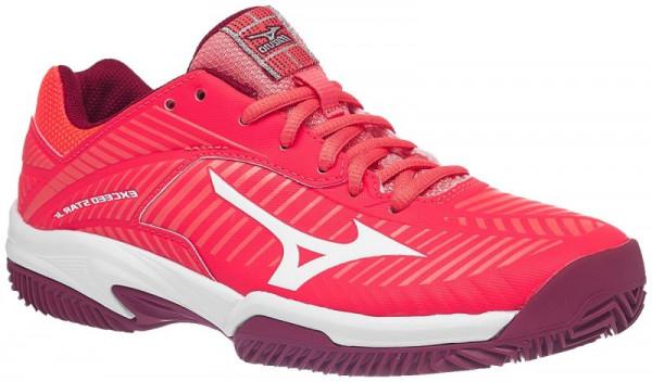 Juniorskie buty tenisowe Mizuno Exceed Star Jr 2 CC - fiery coral/white/beet red