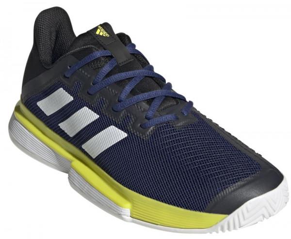 Meeste tennisetossud Adidas Sole Match Bounce Tennis Shoes M - victory blue/cloud white/ acid yellow