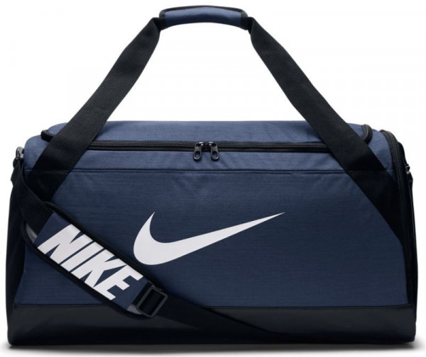Tennis Bag Nike Brasilia Medium Duffel - midnight navy/black/white