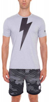 Męski T-Shirt Hydrogen Thunderbolt Tech T-Shirt - grey melange/black