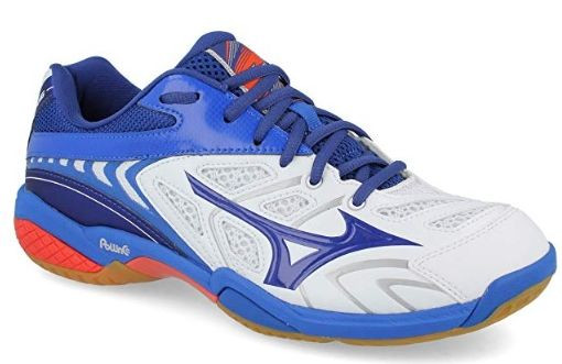 Buty do squasha Mizuno Wave Fang SL - white/sodalete blue/nautical blue