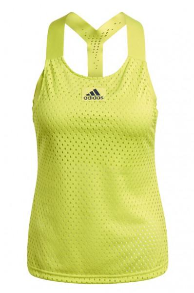Damski top tenisowy Adidas Heat Ready Primeblue Y-Tank Top W - acid yellow/crew navy