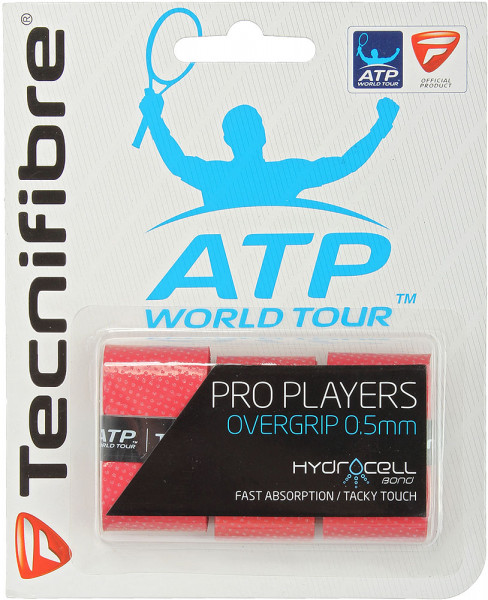 Owijki tenisowe Tecnifibre Pro Player's 3P - red