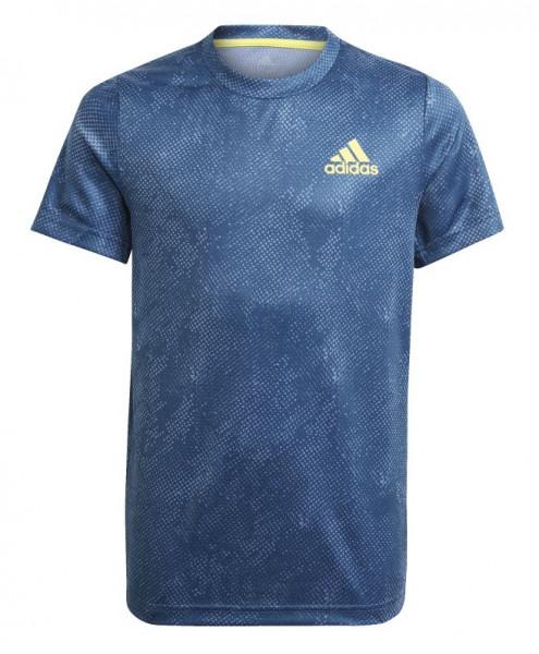 Marškinėliai berniukams Adidas Heat Ready Primeblue Freelift Tee - crew navy/acid yellow/crew blue