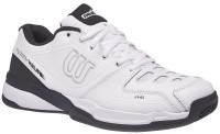 Męskie buty tenisowe Wilson Rush Comp Leather Clay Court - white/white/ebony