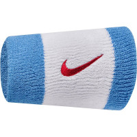 Nike Swoosh Double-Wide Wristbands - white/black