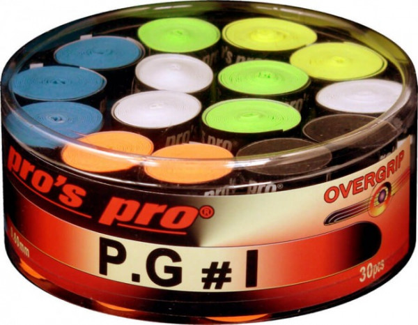 Tenisa overgripu Pro's Pro P.G. 1 30P - color