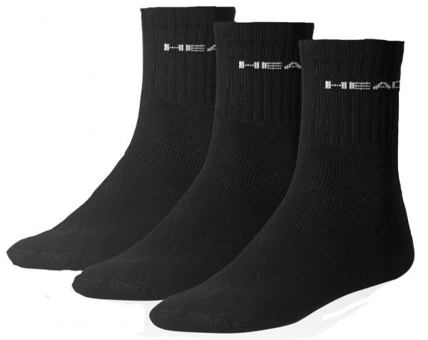 Socks Head Short Crew - 3 pary/black