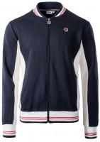 Muška sportski pulover Fila Settanta Track Jacket Men - black iris/blanc de blanc