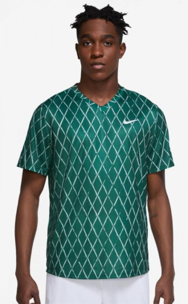 Meeste maika Nike Court Dri-Fit Victory Top Printed M - gorge green/white