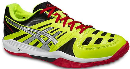 Asics Gel-Fastball - flash yellow/silver/fiery red