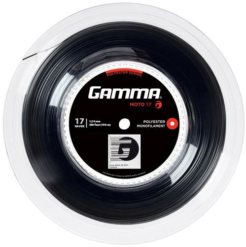 Naciąg tenisowy Gamma MOTO (100 m) - black