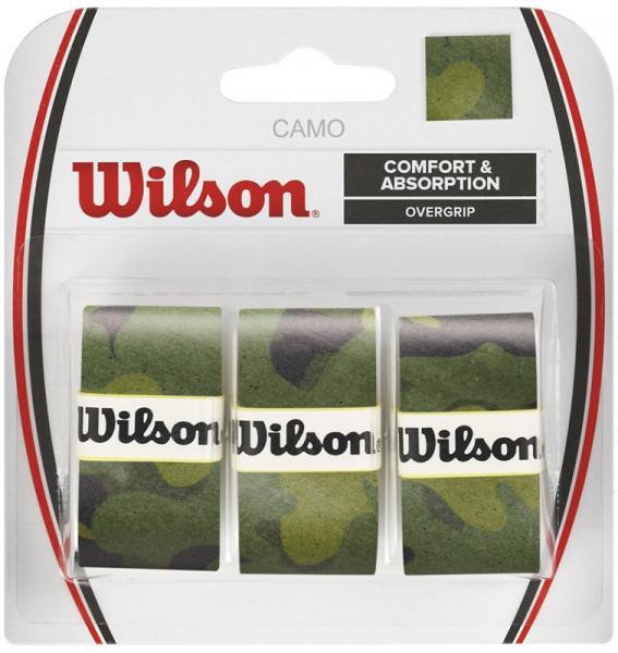 Owijki tenisowe Wilson Camo Overgrip - green