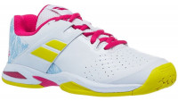 Juniorskie buty tenisowe Babolat Propulse All Court Junior - white/red rose