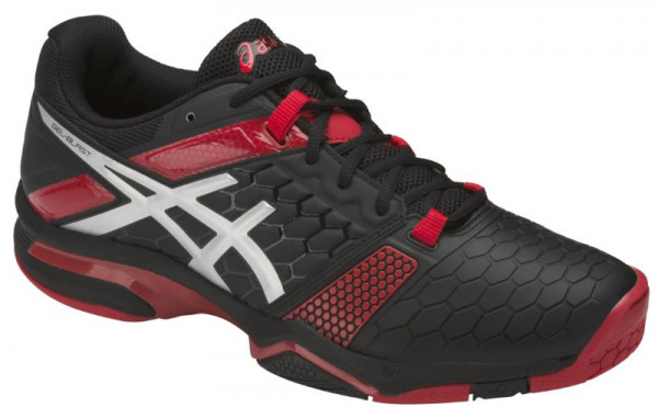 Buty do squasha Asics Gel-Blast 7 - black/silver/prime red