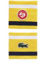 Frotka tenisowa Lacoste Roland Garros Logo Wristbands 2P - yellow/white/blue