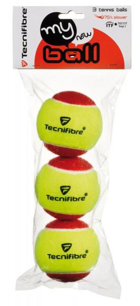 Teniso kamuoliukai pradedantiesiems Tecnifibre My New Ball (3 vnt.)